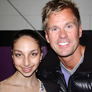 Yasmin Siraj and coach Peter Johansson