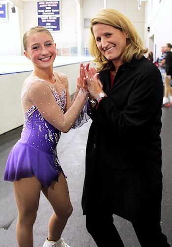 Hannah Miller and Coach Kirsten Miller-Zisholz