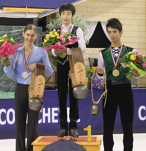 2012 JGP Courchevel: Men's Podium