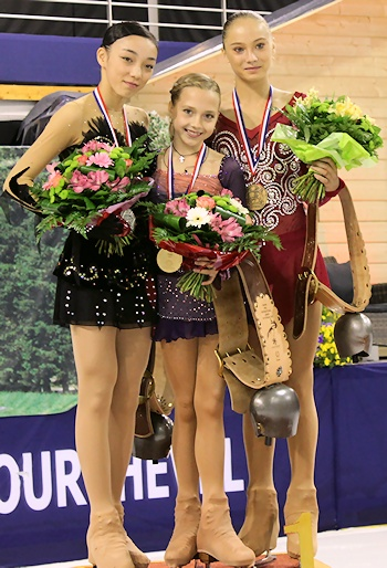 JGP Courchevel - Ladies Podium