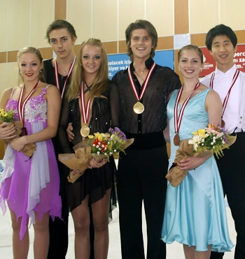 2012 JGP Bosphorus Ice Dance Podium