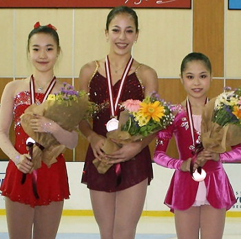 2012 JGP Bosphorus Ladies Podium
