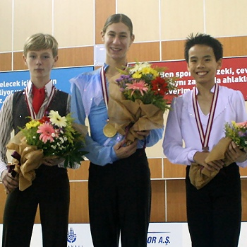2012 JGP Bosphorus Men's Podium