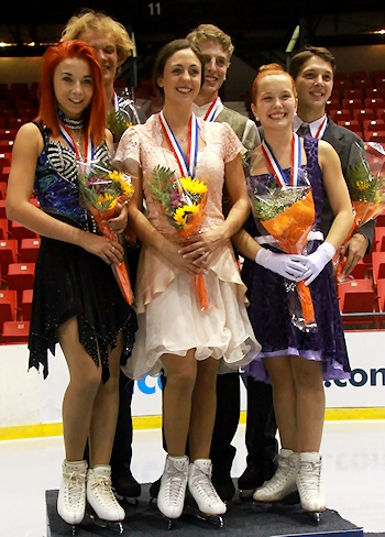 2012 JGP Lake Place Ice Dance Podium
