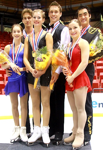 2012 JGP Lake Placid Pairs Podium