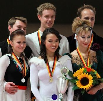 2012 Nebelhorn Trophy Ice Dance Podium