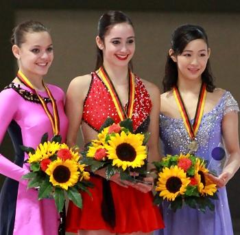2012 Nebelhorn Trophy Ladies Podium