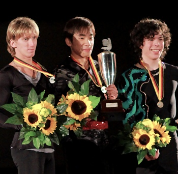 2012 Nebelhorn Trophy Men's Podium