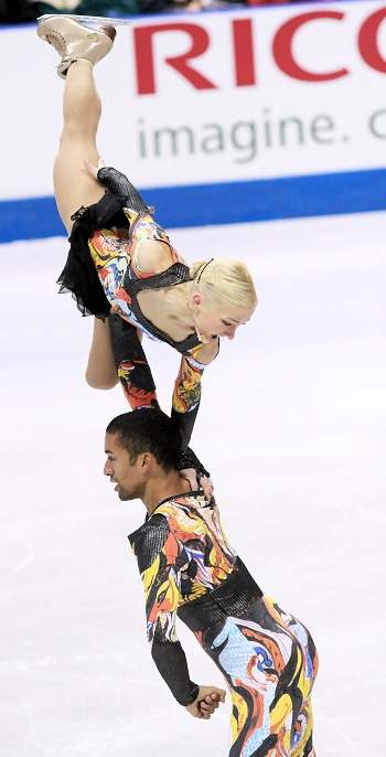 Aliona Savchenko and Robin Szolkowy at 2012 Skate Canada