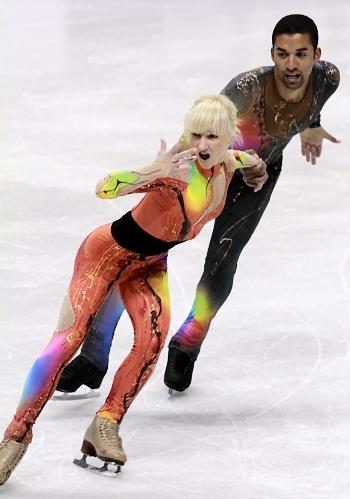 Aljona Savchenko and Robin Szolkowy at 2012 Skate Canada