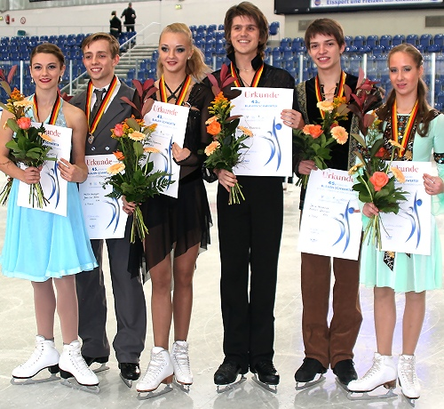 2012 JGP Chemnitz Ice Dance Podium