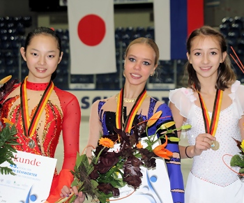 2012 JGP Chemnitz Ladies Podium
