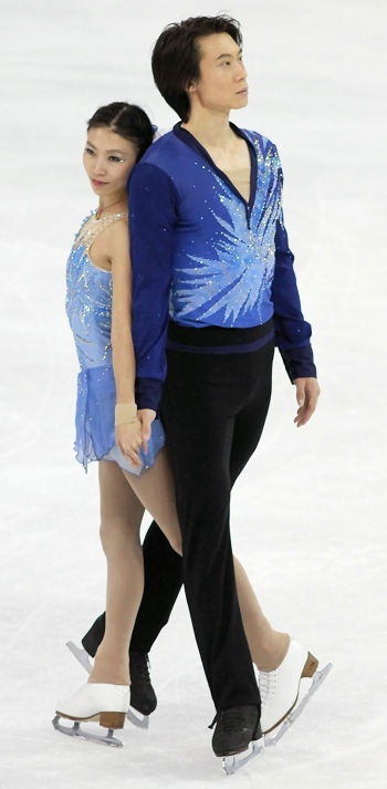 Qing Pang and Jian Tong at 2012 Cup of China