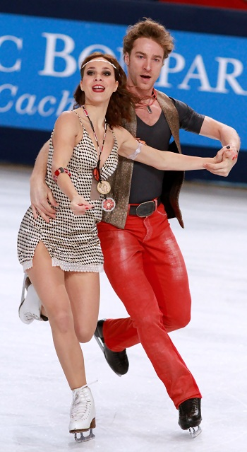 Nathalie Pechalat and Fabian Bourzat at 2012 Trophee Eric Bompard