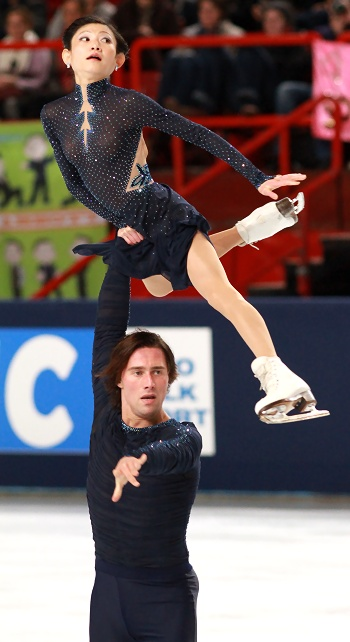 Yuko Kavaguti and Alexander Smirnov at 2012 Trophee Eric Bompard