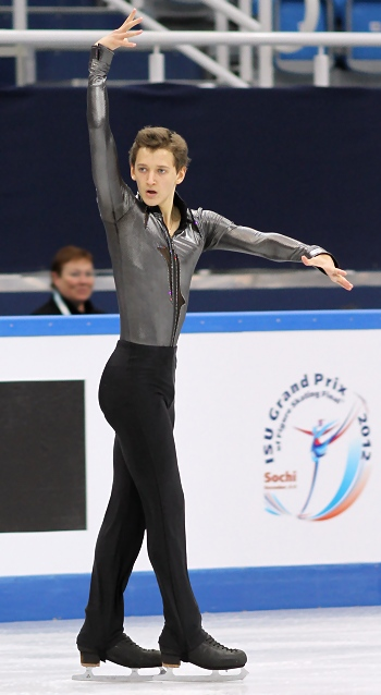 Maxim Kovtun at the 2012-13 Junior Grand Prix Final of Figure Skating