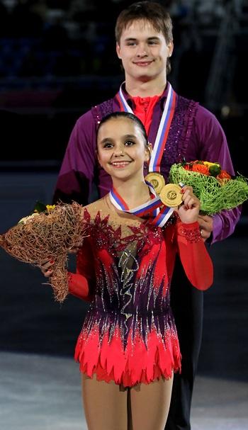Lina Fedorova and Maxim Miroshkin at the 2012-13 Junior Grand Prix Final of Figure skating