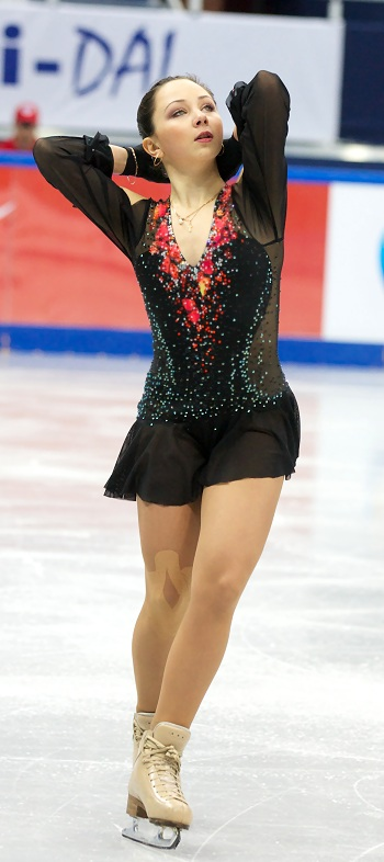 Elizaveta Tuktamysheva at the 2013 Russian National Figure Skating Championships