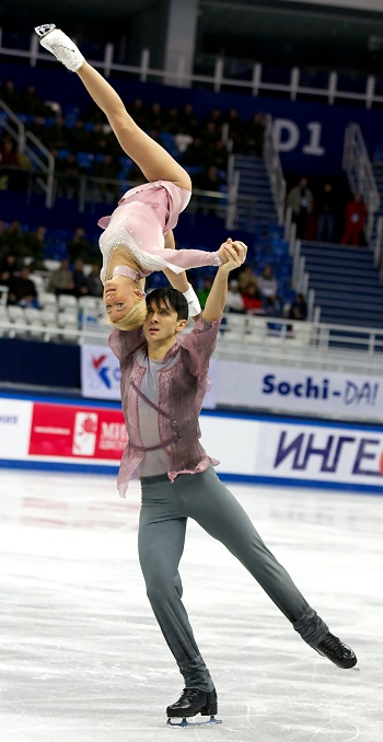 Tatiana Volosozhar and Maxim Trankov at the 2013 Russian National Figure Skating Championships
