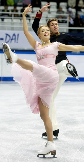 Ekaterina Bobrova and Dmitri Soloviev at the 2013 Russian National Figure Skating Championships