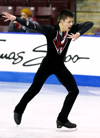 Anthony Kan performs his Short Program at the 2013 Canadian National Figure Skating Championships.