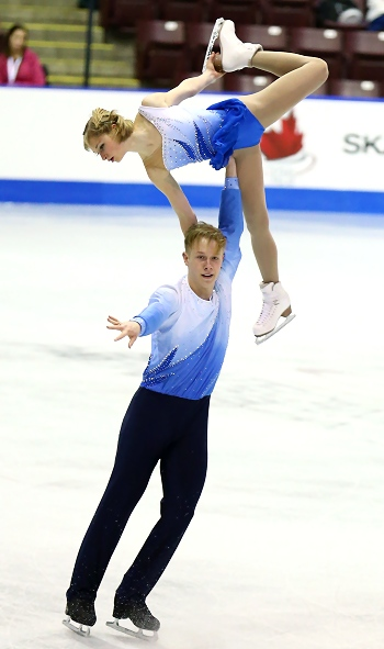 Hayleigh Bell and Alistair Sylvester perform their Free Skate at the 2013 Canadian National Figure Skating Championships.
