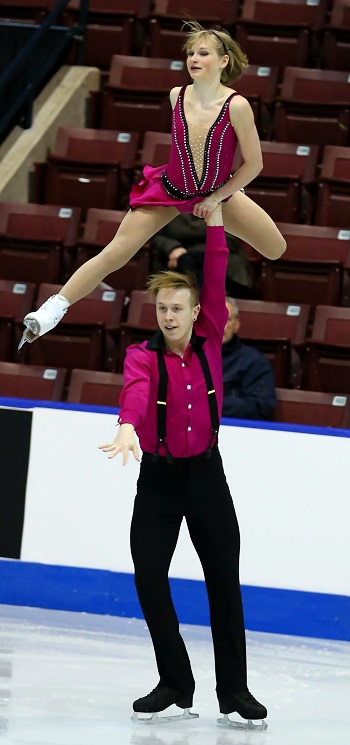Hayleigh Bell and Alistair Sylvester perform their Short Program at the 2013 Canadian National Figure Skating Championships.