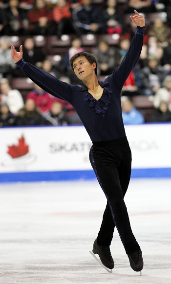 Patrick Chan performs his Short Program at the 2013 Canadian National Figure Skating Championships.