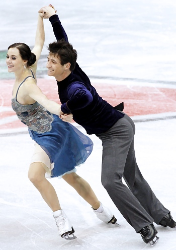 Tessa Virtue and Scott Moir perform their Short Dance at the 2013 Canadian National Figure Skating Championships.Tessa Virtue and Scott Moir perform their Short Dance at the 2013 Canadian National Figure Skating Championships.