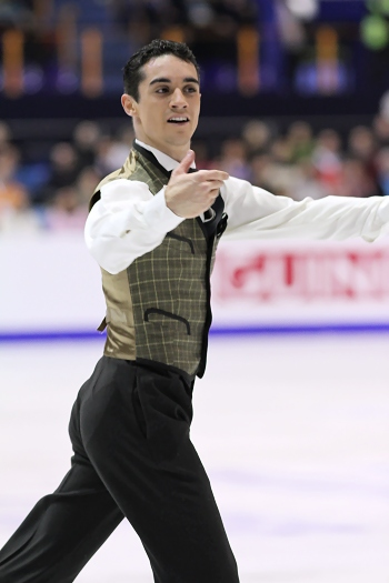 Javier Fernandez performs his Long Program at the 2013 European Figure Skating Championships.