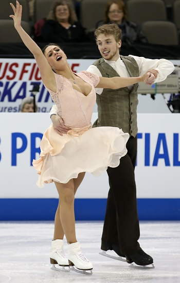 Alexandra Aldridge and Daniel Eaton perform their Free Dance at the 2013 US National Figure Skating Championships.