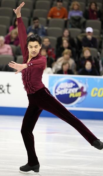 Shotaro Omori performs his Short Program at the 2013 US National Figure Skating Championships.
