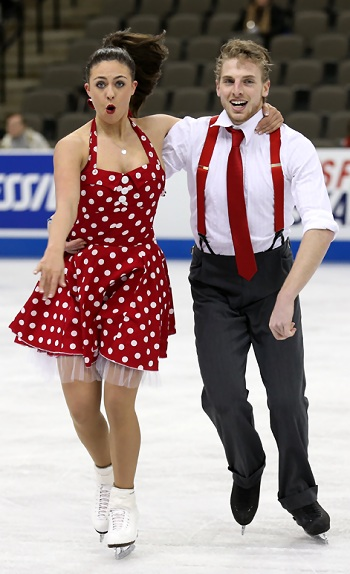 Alexandra Aldridge and Daniel Eaton perform their Short Dance at the 2013 US National Figure Skating Championships.