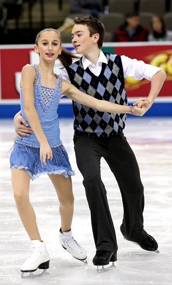 Chloe Lewis and Logan Bye perform their Free Dance at the 2013 US National Figure Skating Championships.