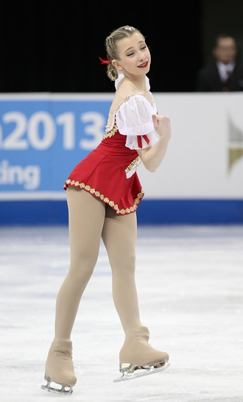 Tyler Pierce performs her Long Program at the 2013 US National Figure Skating Championships.