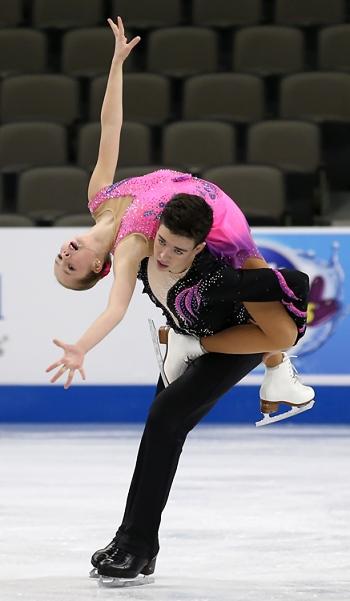 Christina Zaitsev and Ernie Utah Stevens perform their Long Program at the 2013 US National Figure Skating Championships.