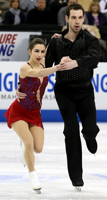 Marissa Castelli and Simon Shnapir perform their Long Program at the 2013 US National Figure Skating Championships.