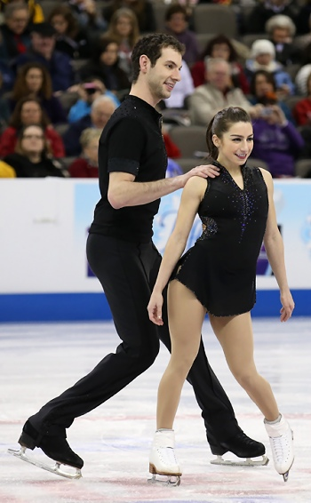 Marissa Castelli and Simon Shnapir perform their Short Program at the 2013 US National Figure Skating Championships.