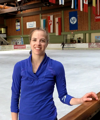 Carolina Kostner of Italy at the IceDome in Oberstdorf, Germany.