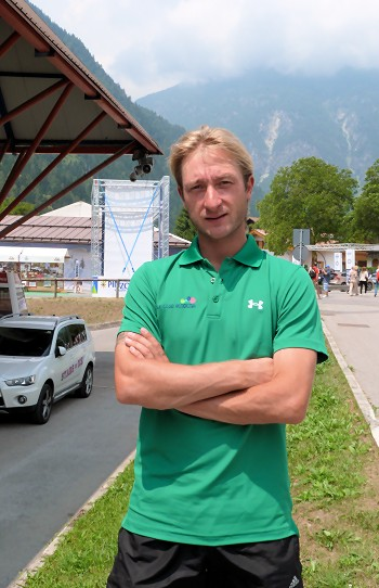 Evgeni Plushenko at training camp in Pinzolo, Italy.