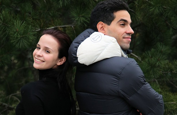 Ice dancers Anna Cappellini and Luca Lanotte