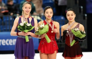 2016 World Junior Figure Skating Championships: Ladies Podium