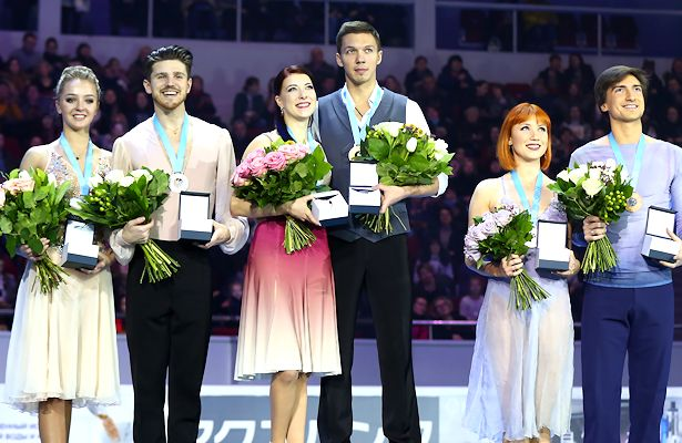 2018 Russian Nationals Ice Dance Podium