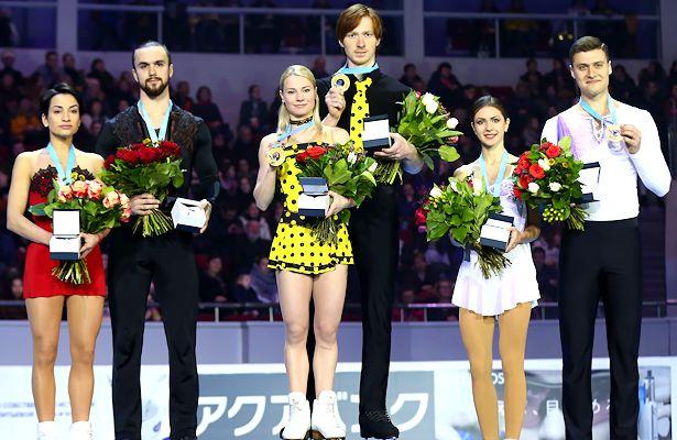 2018 Russian Nationals Pairs Podium