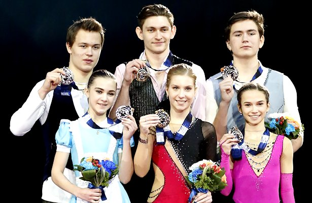 2017-18 Junior Grand Prix Final - Pairs Podium