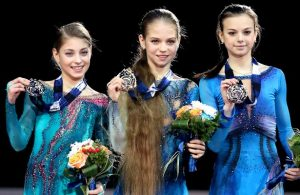 2017-18 Junior Grand Prix Final of Figure Skating - Ladies Podium