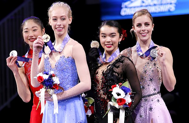 2018 US Ladies Podium