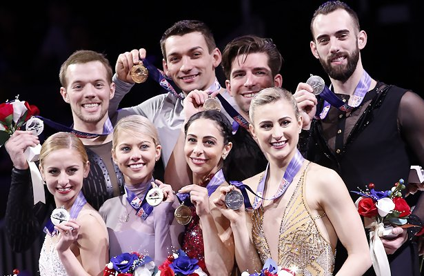 2018 US National Pairs Podium
