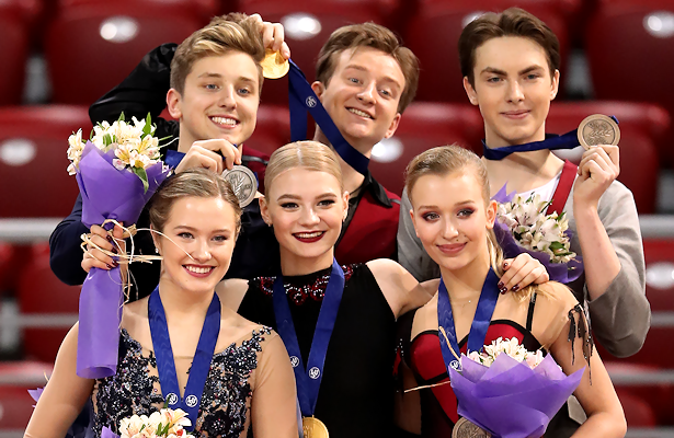 2018 World Junior Figure Skating Championships: Ice Dance Podium