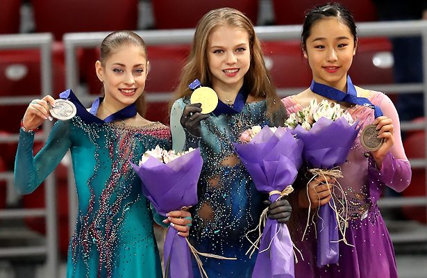 2018 World Junior Figure Skating Championships: Ladies podium